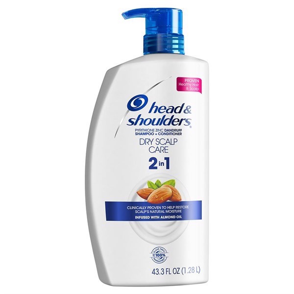 Dầu Gội Head & Shoulders With Almond Oil Dry Scalp Care 2in1, 1.28L