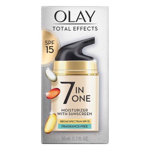 Kem Olay Total Effects 7-in-One Moisturizer With Sunscreen Broad Spectrum SPF15 Fragrance-Free, 50ml