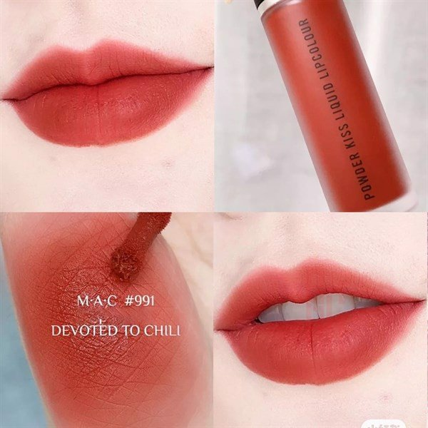 Son MAC Dạng Kem Powder Kiss Liquid Lipcolour, 991 Devoted To Chili, 5ml