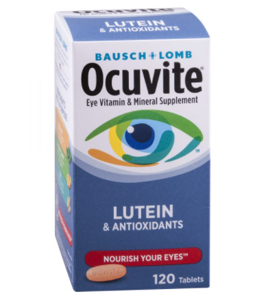 Viên Uống Bổ Mắt Ocuvite Eye Vitamin & Mineral Supplement Lutein & Antioxidants, 120 Tablets