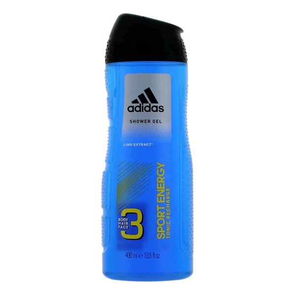 Gel Tắm, Gội, Rửa Mặt Adidas 3in1 Sport Energy Tonic Recharge, 400ml