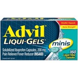 TPCN ADVIL Liqui Gels Ibuprofen 200mg Pain Reliever/Fever Reducer, Minis