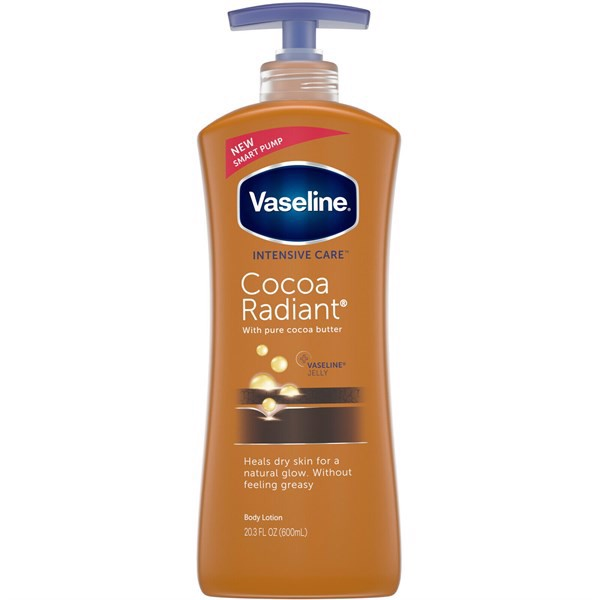 Body Lotion Vaseline Intensive Care Cocoa Radiant With Pure Cocoa Butter, 600ml