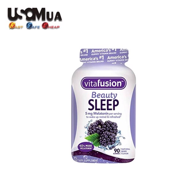 Kẹo Ngủ Vitafusion Beauty Sleep With 5mg Melatonin, Natural Berry Flavor, 90 Gummies