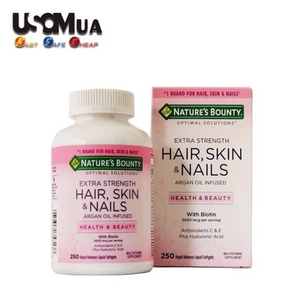 TPCN Nature's Bounty Extra Strength Hair, Skin & Nails With Biotin 5000mcg, 250 Softgels