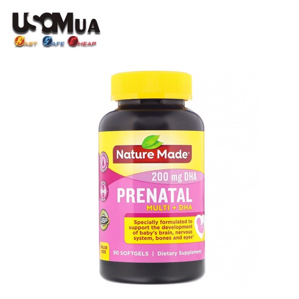 TPCN Nature Made PRENATAL Multi + 200mg DHA, 150 Viên