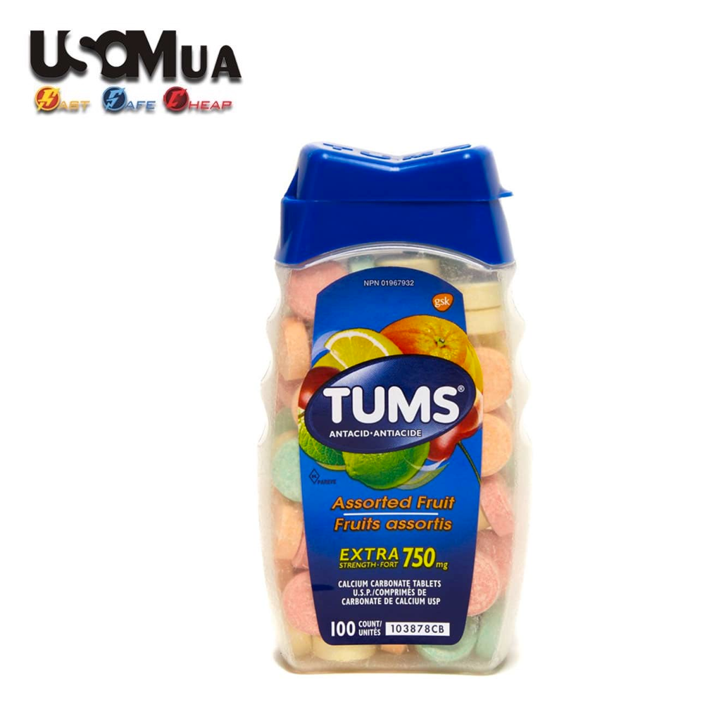 TPCN Tums Assorted Fruit Extra Strength-Fort 750mg, 100 Viên