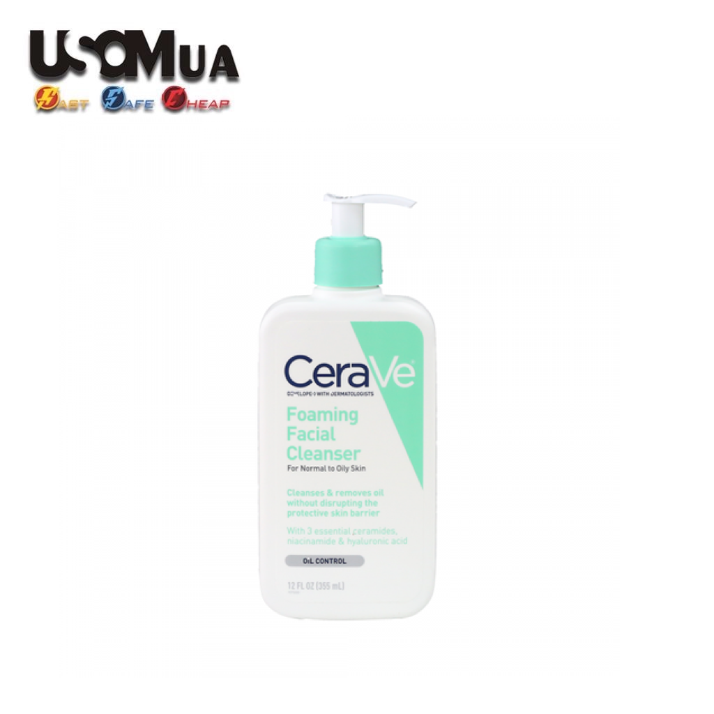 Sữa Rửa Mặt CeraVe Foaming Facial Cleanser, Oil Control, 355ml