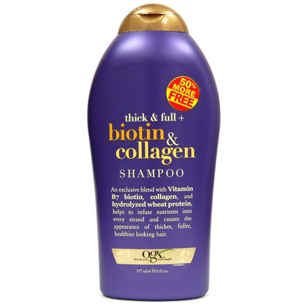 Dầu Gội OGX Biotin & Collagen Extra Strength Extra Volume+