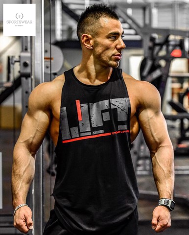 Áo ba lỗ tập gym Strong Lift Wear text