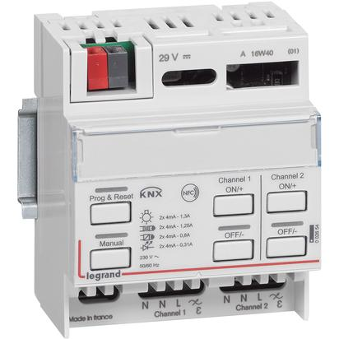 Legrand KNX universal dimming DIN controller 2 extension