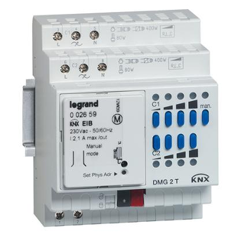 Legrand KNX universal dimming DIN controller 2 outputs