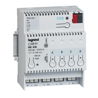 Legrand KNX ON-OFF DIN CONTROLLER 4 outputs 8A