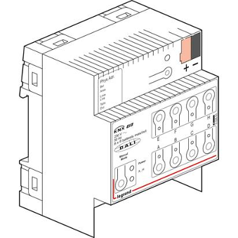 Legrand KNX DALI dimming DIN controller 8 outputs