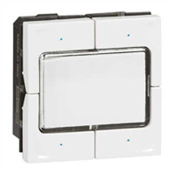 Legrand KNX command 4 push with label display Mosaic - white (equiv MH 078478)