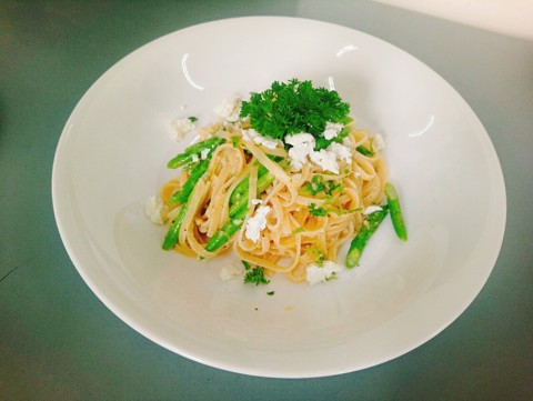 Lemon Feta Linguine