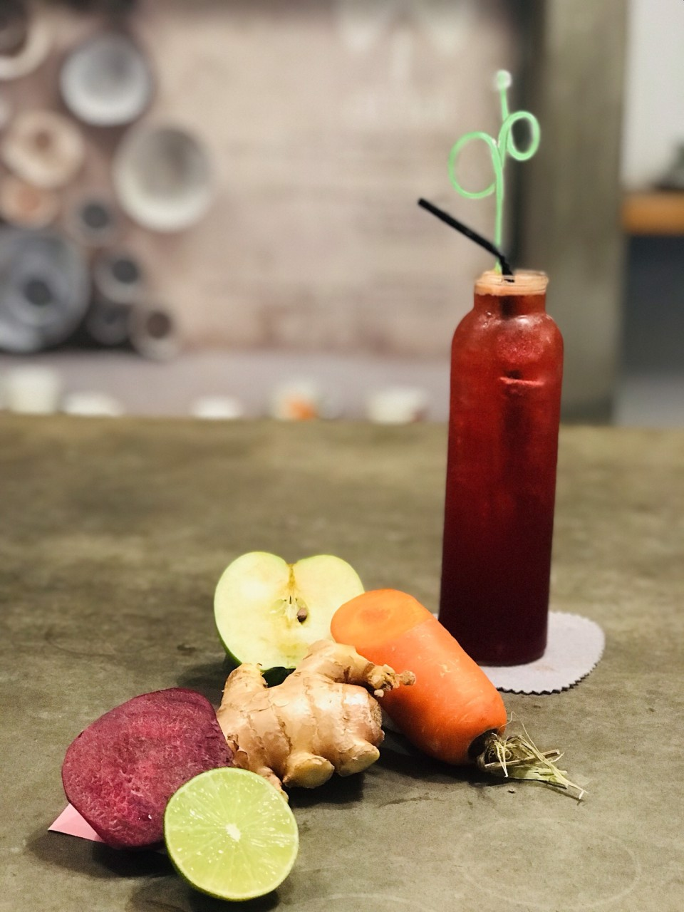 Carrot, Apple, Beetroot, Ginger, Lemon