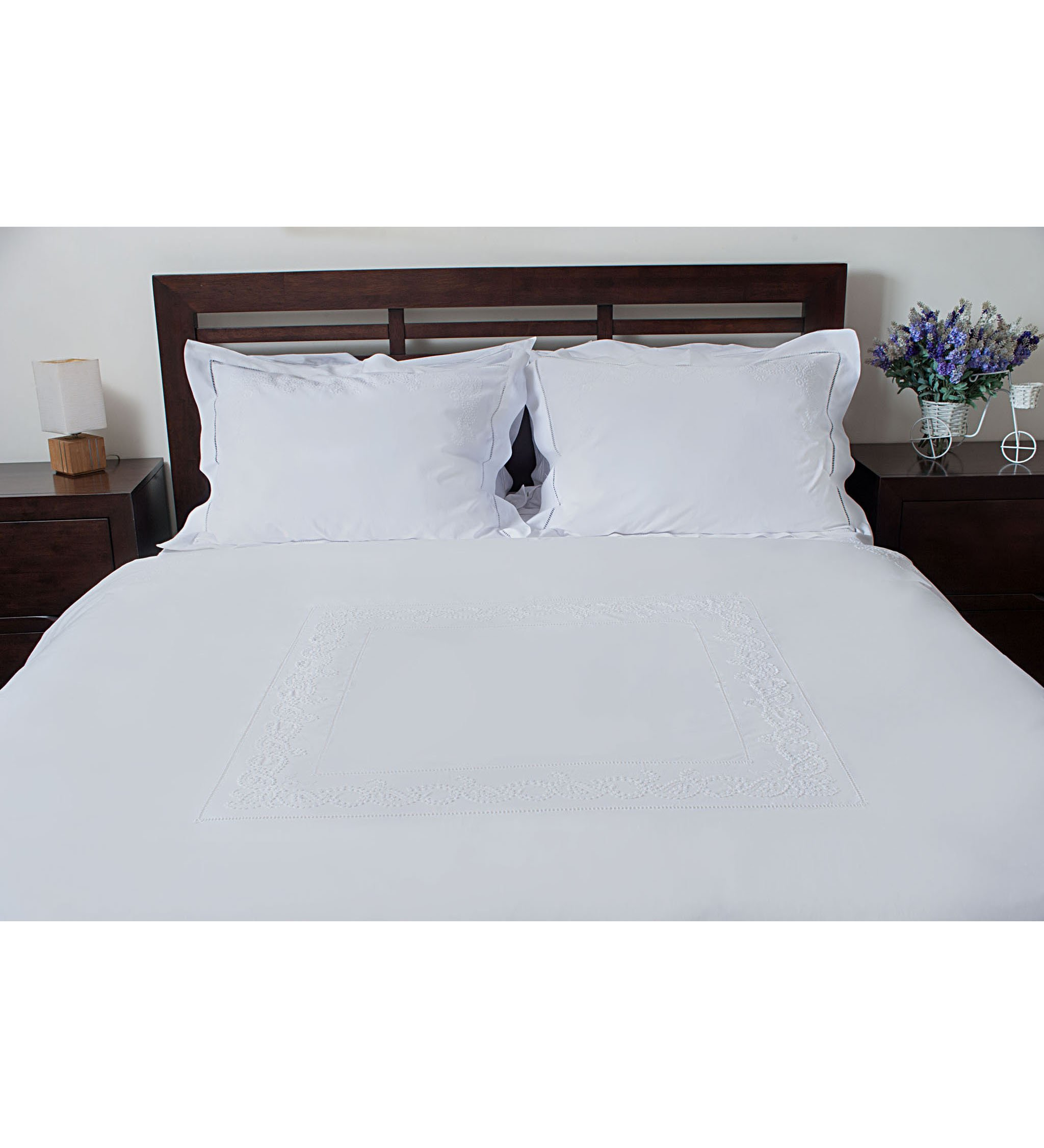 Set Drap giường+bộc mền+4 cặp áo gối 50x70, 60x60, 45x45, 25x50
