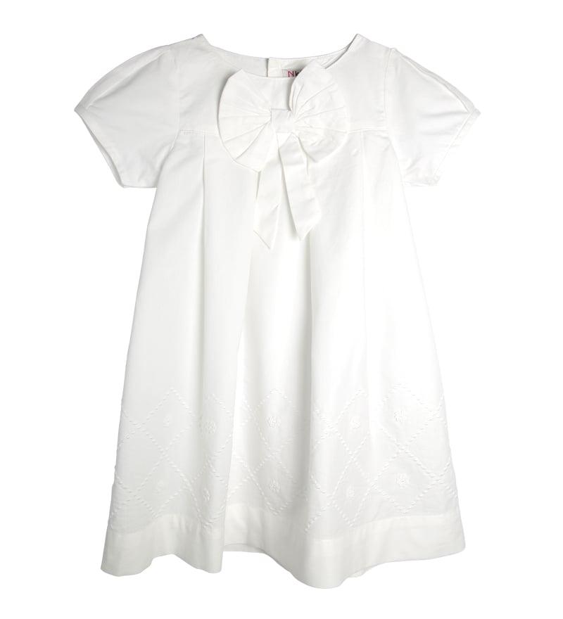 Đầm bé gái rua nơ ngực