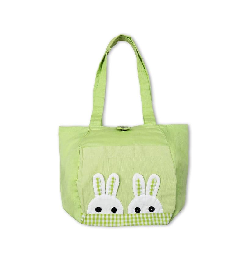 Túi 4 khía đầu thỏ-xanh lá