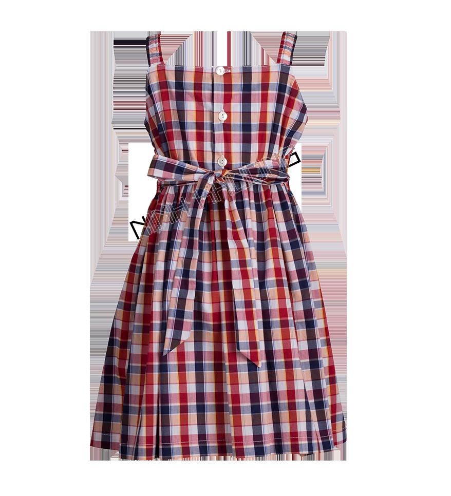 Đầm bé gái smock 2 dây vai thun