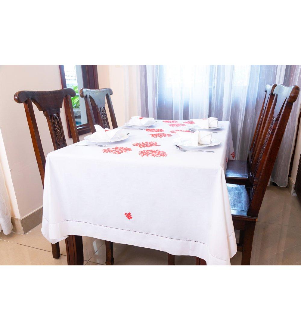 Table Cloth-Khăn bàn 8k175x250-CIP-San hô cam