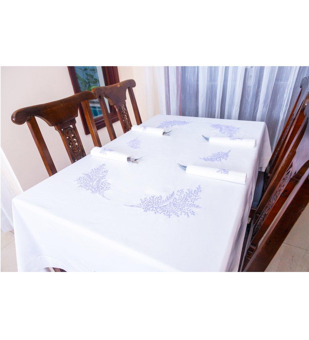Table Cloth-Khăn bàn 12k175x300-CIP-Mimosa tím