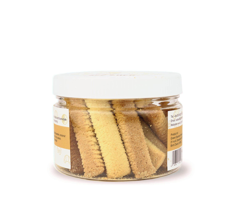 Bánh bơ sữa cốt dừa thơm ngon dạng stick (Coconut stick cookie) - hũ 140g