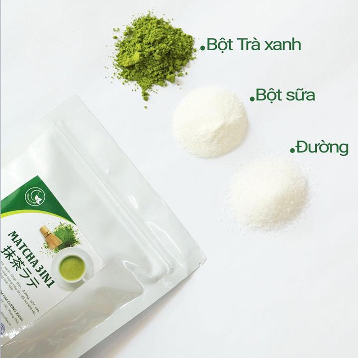 Hũ 90gr - Bột trà xanh sữa 3in1 GreenD Food