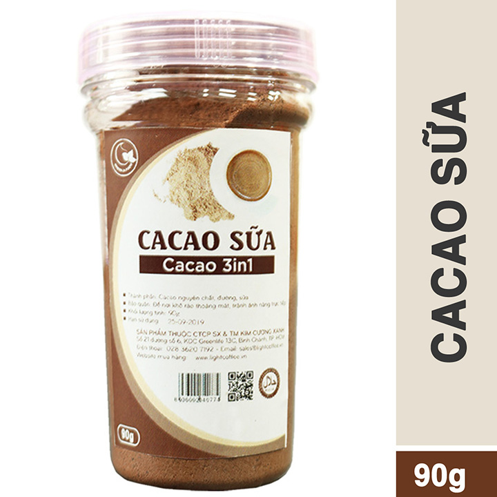 Hũ 90gr - Bột cacao sữa 3in1 GreenD Food