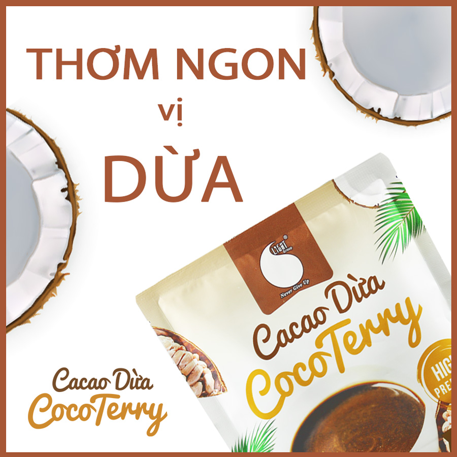 50gr - Bột cacao sữa dừa CocoTerry