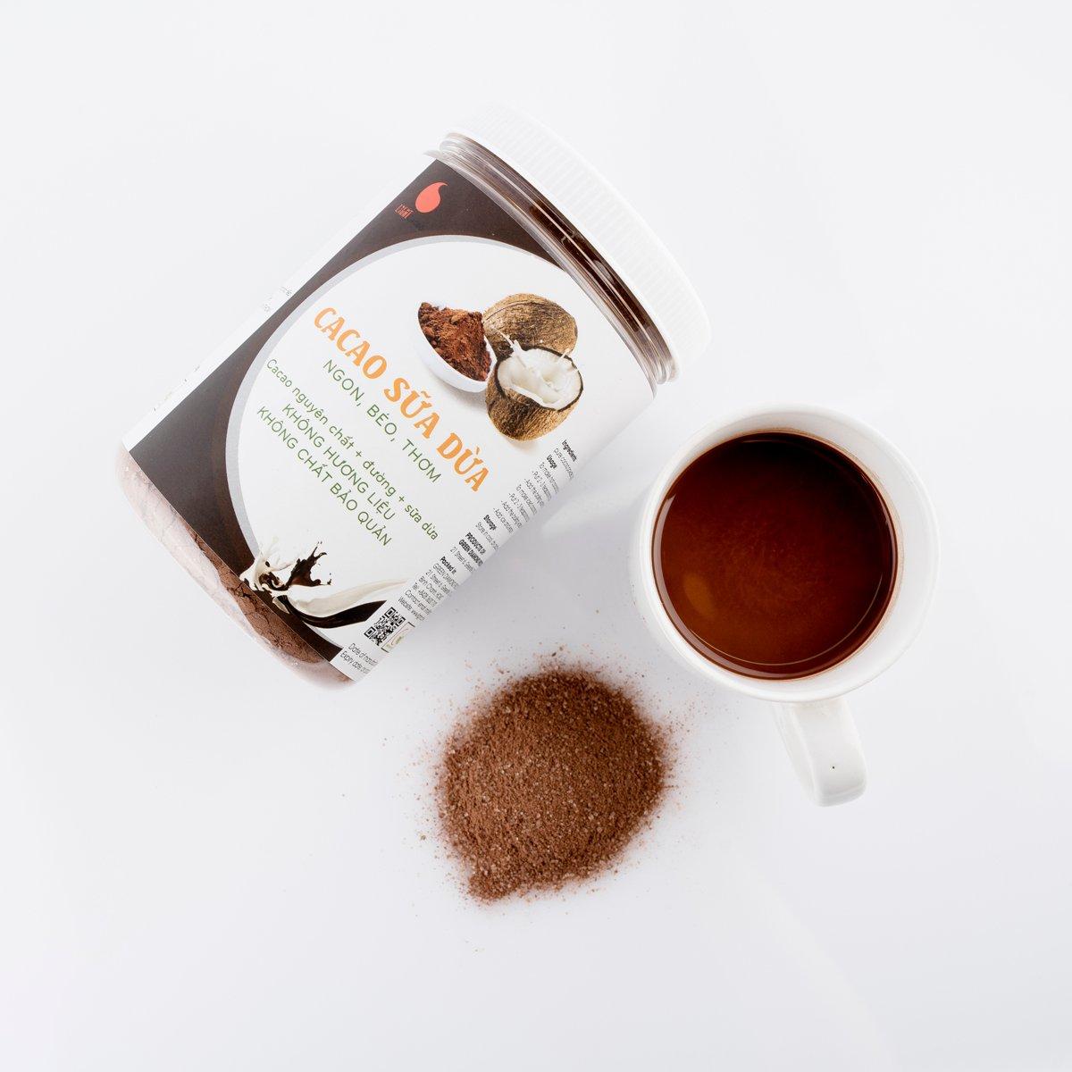 Cacao sữa dừa 3in1 thơm ngon , dạng hũ dễ bảo quản Light Cacao - 230g