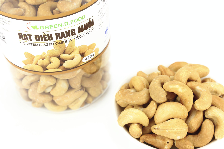 420g - Hạt điều rang muối Green D Food - Thượng Hạng