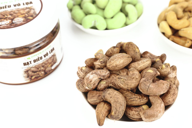 150g - Hạt điều rang muối Vỏ lụa Green D Food - Thượng Hạng
