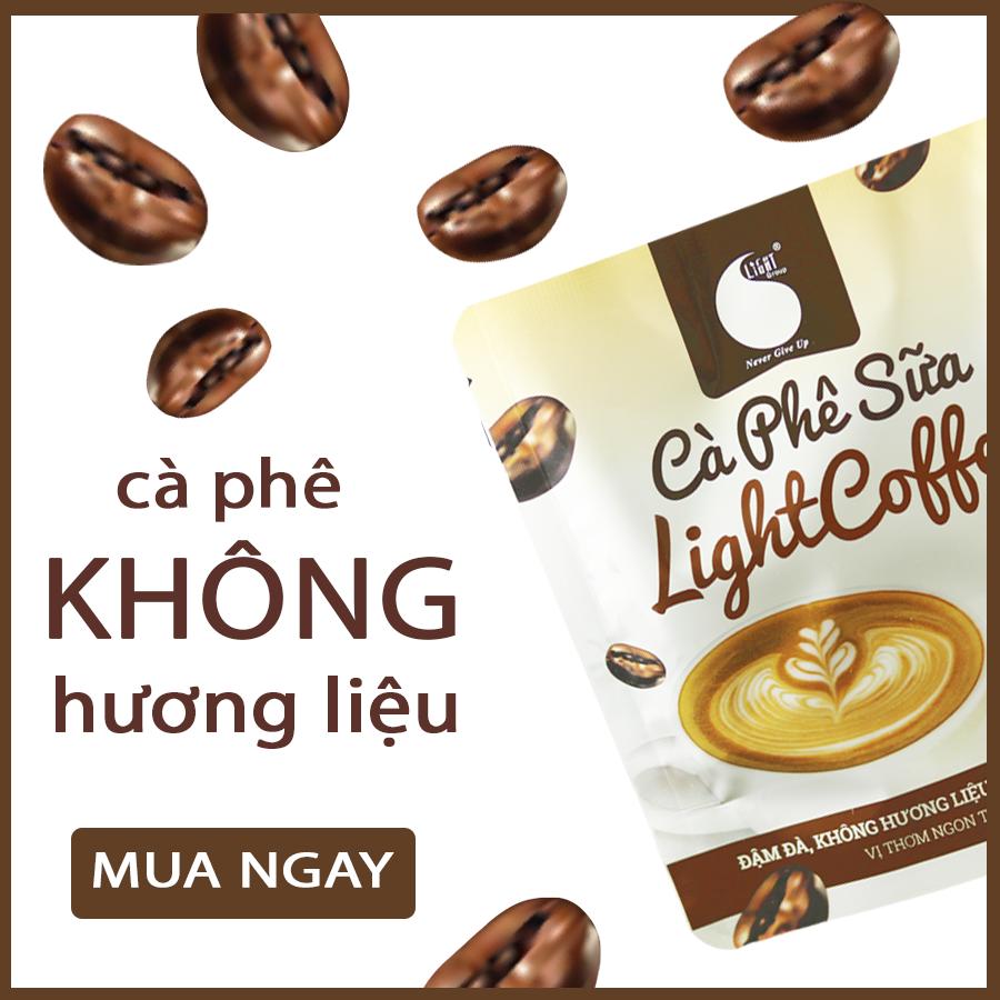 50gr - Cà Phê sữa hòa tan Light Coffee vị cà phê thật, không hương liệu