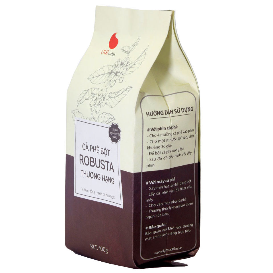 100g - Cà phê bột Robusta Thượng hạng - Light Coffee