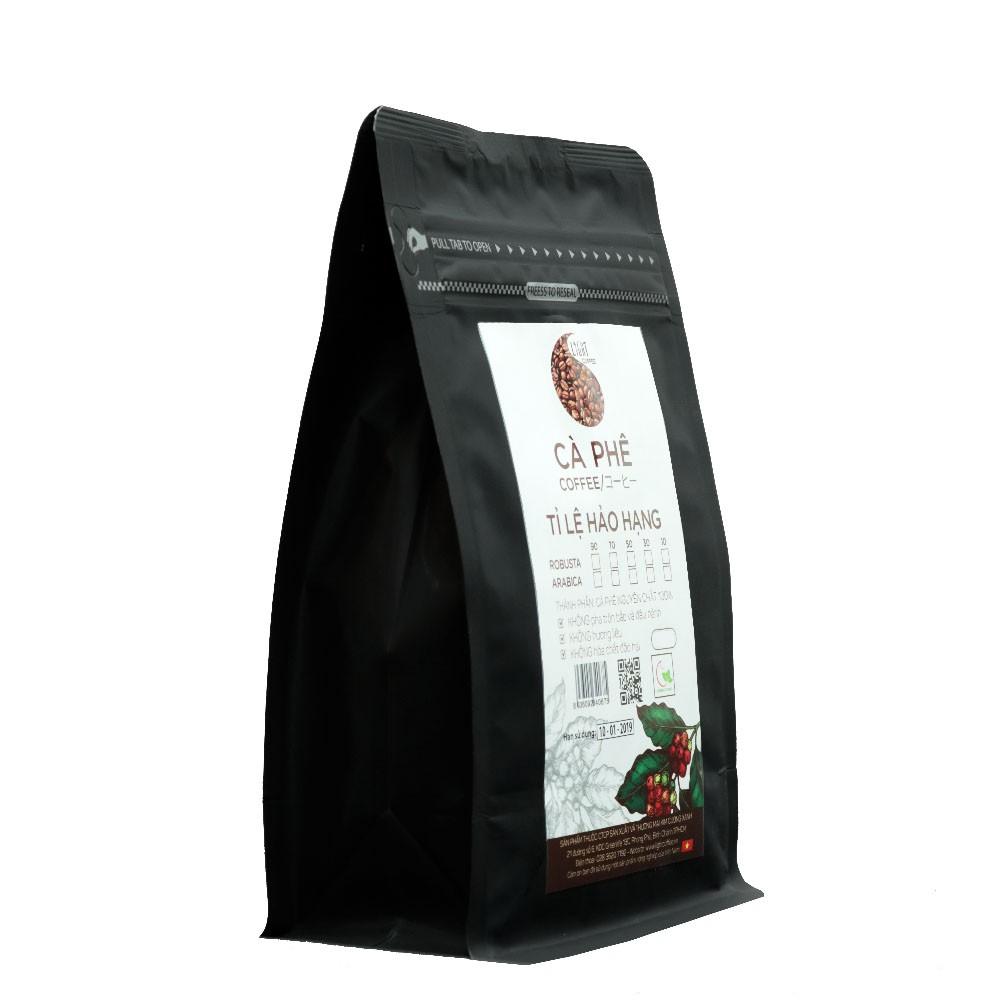 200g - Cà phê hạt Tỉ lệ Hảo Hạng - 50% Robusta + 50% Arabica - Light coffee