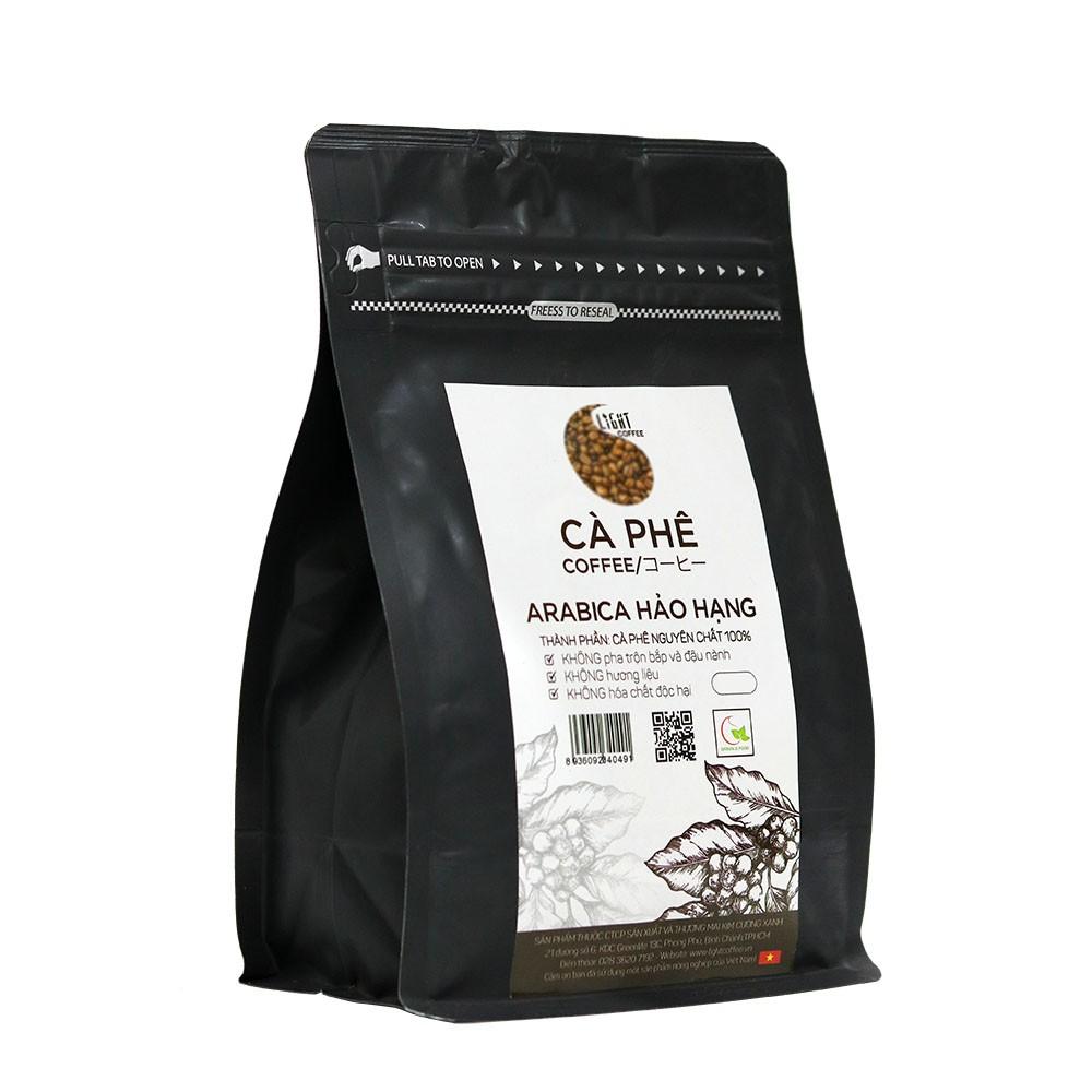 100gr/gói - 2 gói cà phê hạt nguyên chất 100% Robusta Hảo Hạng + 2 gói cà phê hạt nguyên chất 100% Arabica Hảo Hạng - Light coffee