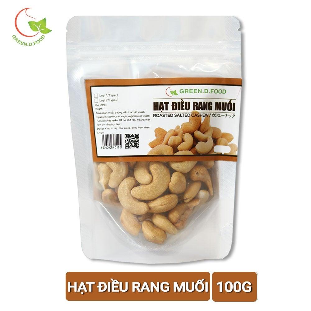 100g - Hạt điều rang muối Green D Food - Thượng Hạng