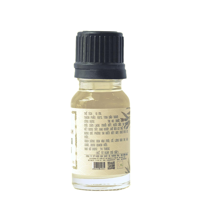 10ml - (chai thủy tinh) Dầu tràm nguyên chất Hoàng Cung Huế