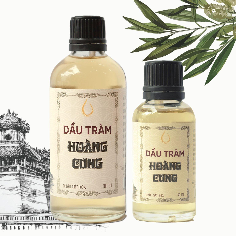1 chai Dầu tràm cho bé - dầu tràm Hoàng Cung Huế 30ml + 1 chai Dầu tràm cho bé 100ml