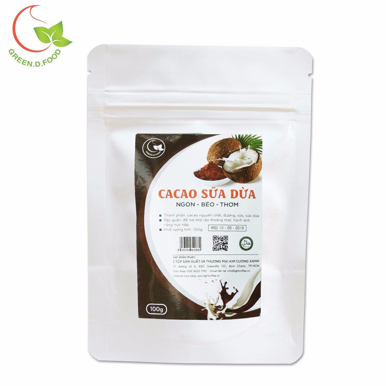 100gr - Bột cacao sữa dừa Green D Food