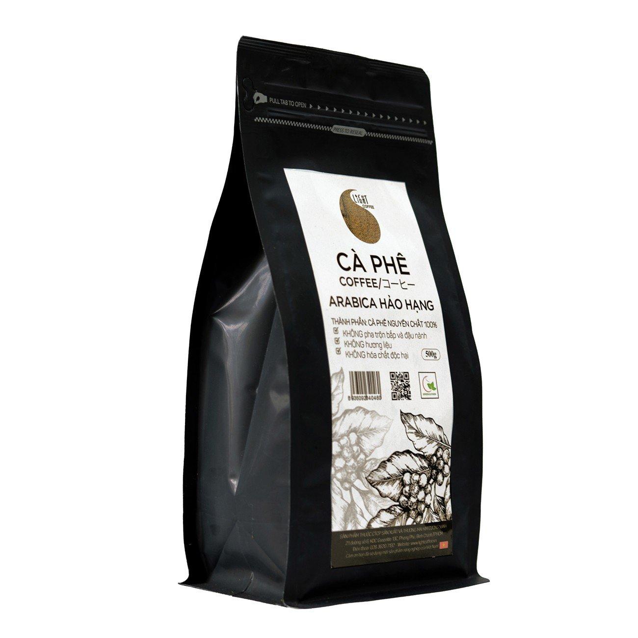 500g - Cà phê hạt nguyên chất 100% Arabica Hảo Hạng - Light coffee