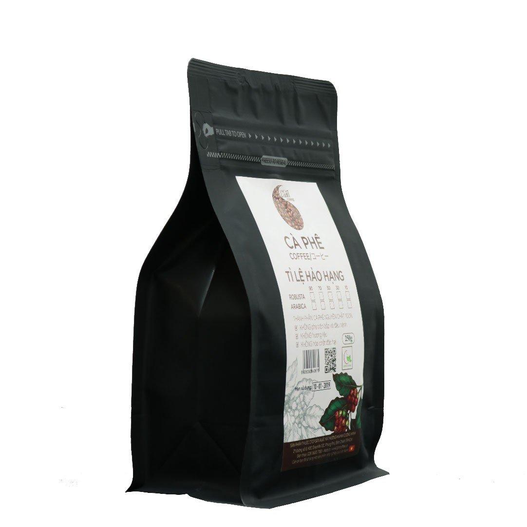 250g - Cà phê hạt Tỉ lệ Hảo Hạng - 30% Robusta + 70% Arabica - Light coffee