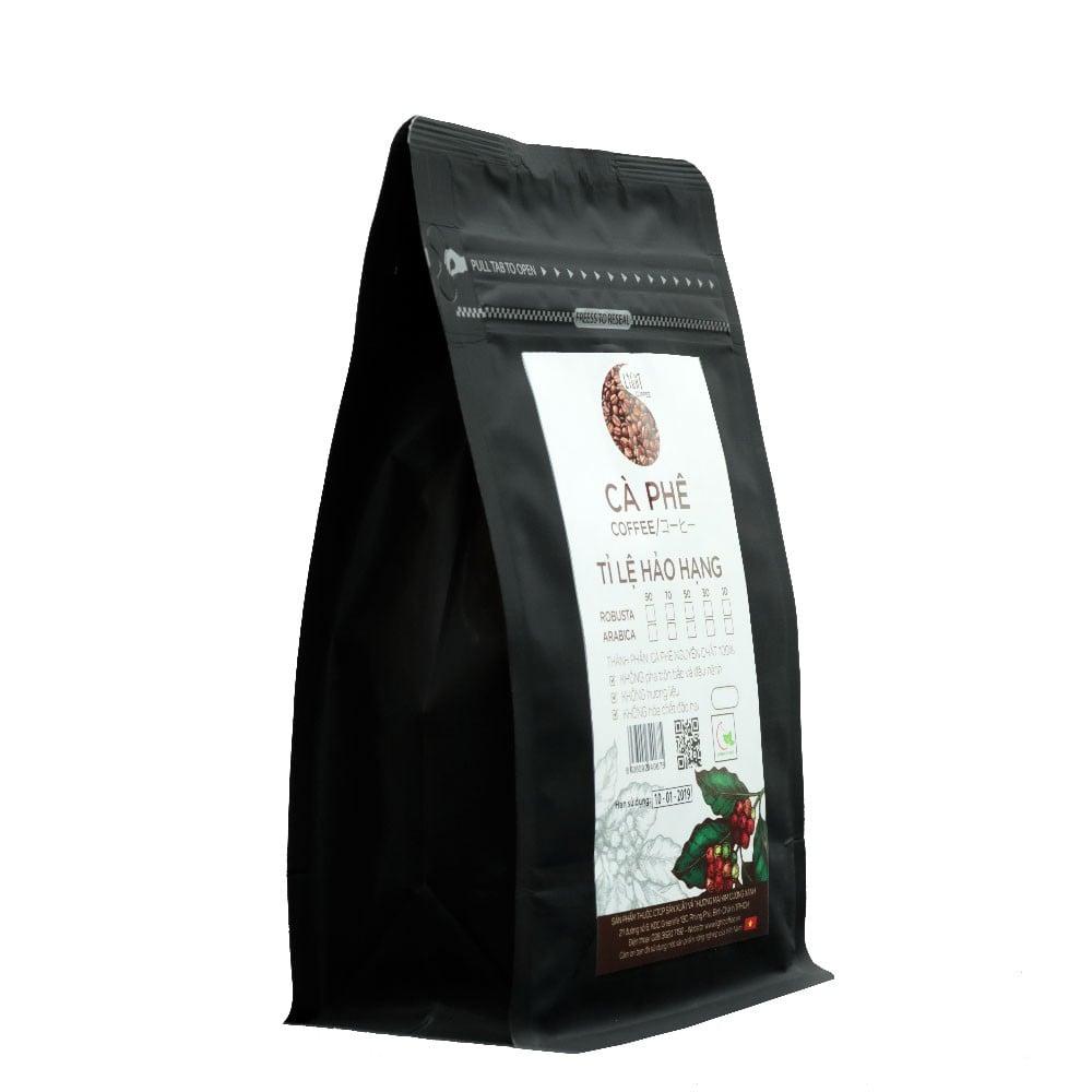 200g - Cà phê hạt Tỉ lệ Hảo Hạng - 30% Robusta + 70% Arabica - Light coffee
