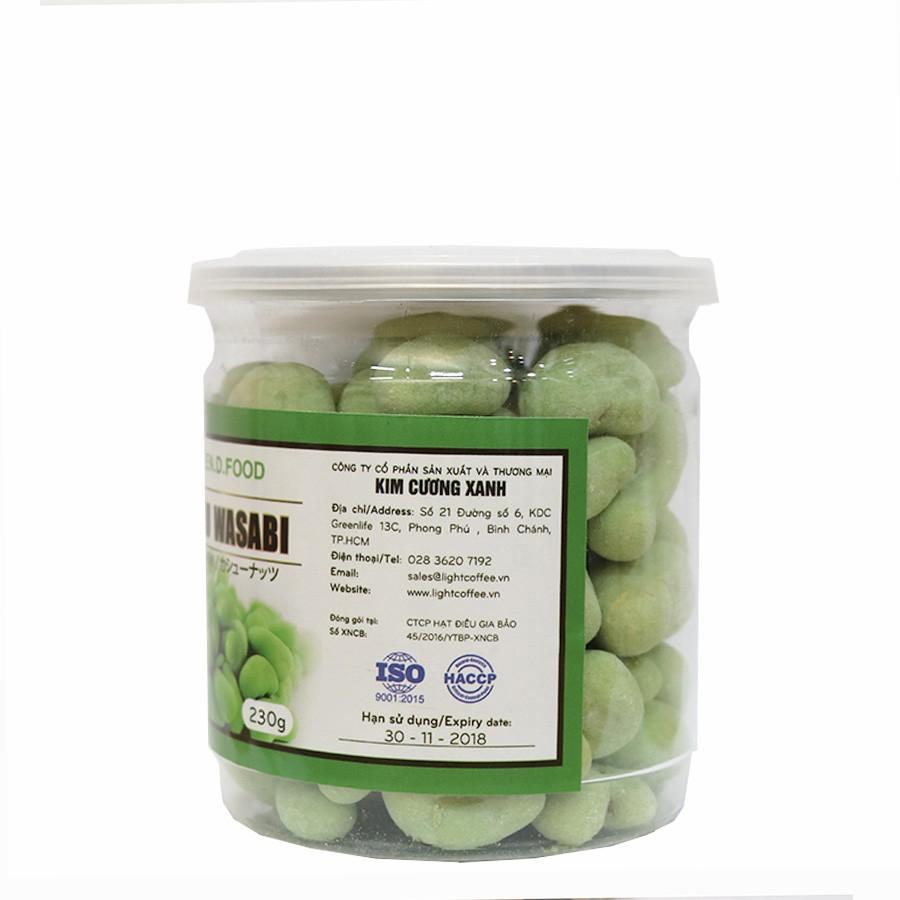 230g - Hạt điều Wasabi Green D Food - Thượng hạng