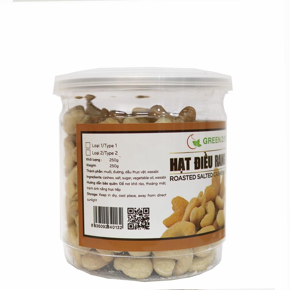 250g - Hạt điều rang muối Green D Food - Thượng Hạng