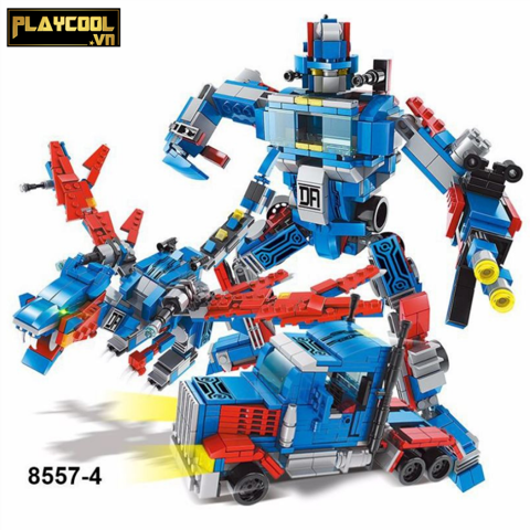 Bộ lắp ráp CHIẾN BINH ROBOTS Optimus Prime 3in1 Lele Brother 8557-4