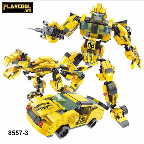 Bộ lắp ráp CHIẾN BINH ROBOTS Bumblebee 3in1 Lele Brother 8557-3