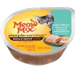 Meow Mix Simple Servings Tuna & Ocean Whitefish in Sauce 37g